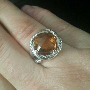 David Yurman Infinity 11mm citrine ring